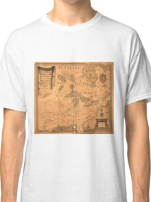 French Map of North America by J. B. L. Franquelin (1685) Classic T-Shirt