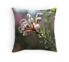 Nature - Native Australian Bush Flower in pale pink Throw Pillow