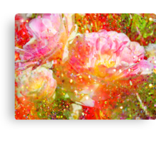 Lovely Tulips & Green. Canvas Print