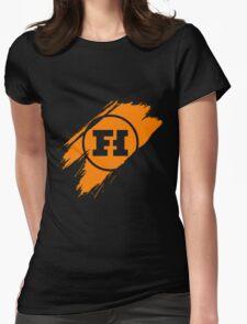 Funhaus brush stroke Womens Fitted T-Shirt