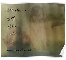 She Dreams Softly Poster