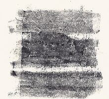 Caught in a vise - Nightmare Series #8 - Monotype + Drawing by Pascale Baud