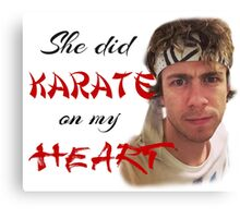 James Bourne: Karate On My Heart Canvas Print