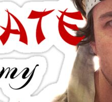James Bourne: Karate On My Heart Sticker