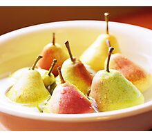Washing Pears Photographic Print
