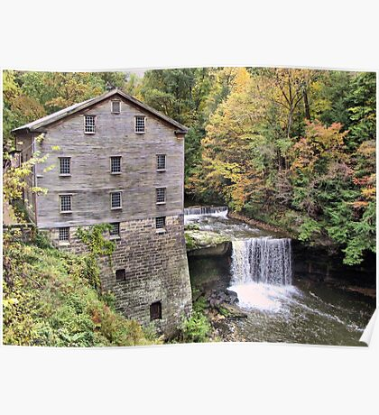 Fall at the Mill Poster