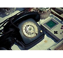 Vintage Phone & Game Boy Photographic Print