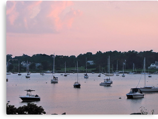 Pastels in the harbor by Nancy Richard