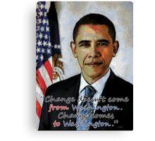 Change in Washington Canvas Print