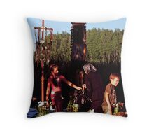 PILGRIMAGE: from generation to generation Throw Pillow