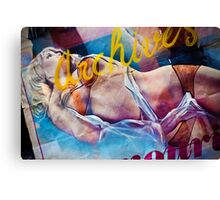 Vintage pin-up Canvas Print