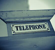 Old Telephone sign by Angel Benavides