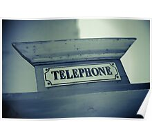 Old Telephone sign Poster