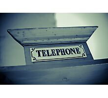 Old Telephone sign Photographic Print