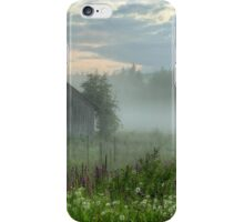 Foggy barn iPhone Case/Skin
