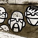 Street art faces by Angel Benavides