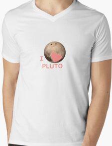 I Love Pluto Mens V-Neck T-Shirt