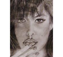 Graphite Portrait Drawing - Eva Photographic Print