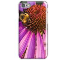 Bee on a Purple Coneflower iPhone Case/Skin