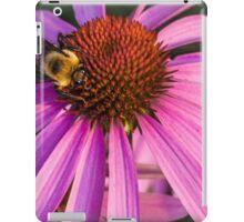 Bee on a Purple Coneflower iPad Case/Skin