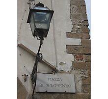Piazza San Lorenzo, Firenze Photographic Print
