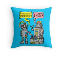 Robot Talk Throw Pillow