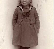My mother 4 years old by Heidi Mooney-Hill