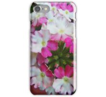 White And Pink Lantana Flowers iPhone Case/Skin