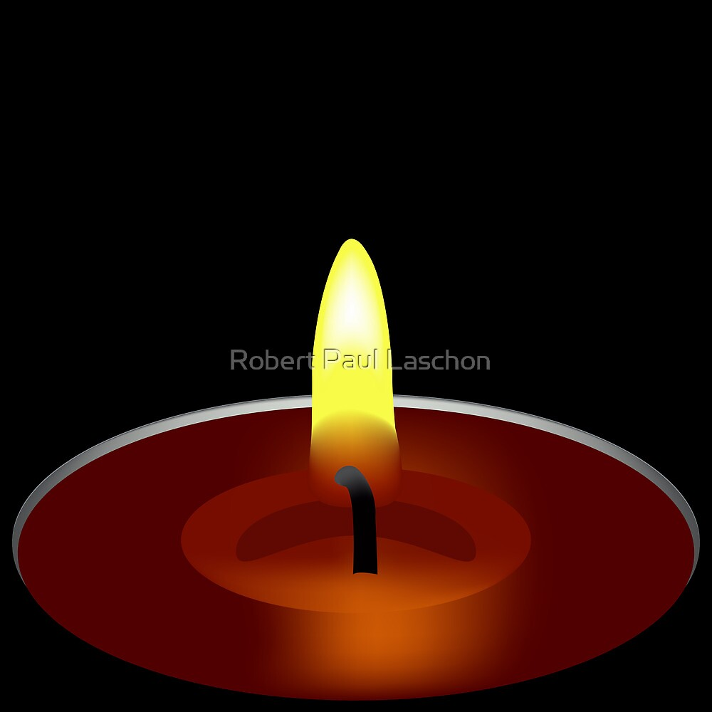 candle illustration by Laschon Robert Paul