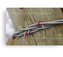 Red Barbwire experience Canvas Print