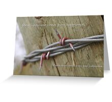 Red Barbwire experience Greeting Card