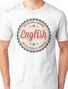 USA Official Language Unisex T-Shirt