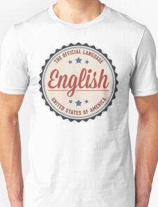 USA Official Language T-Shirt