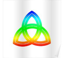 Interlaced Double Triquetra Poster