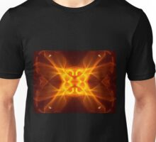 Red Hot Kaleidoscope Flame Unisex T-Shirt