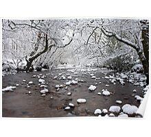 Lochaber river in Winter. Poster