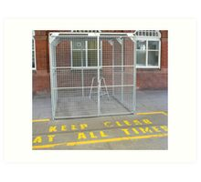 zimmer frame in cage colour Art Print