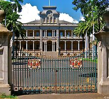 Iolani Palace Gates by David Davies