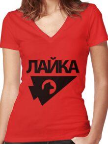 Laika Women's Fitted V-Neck T-Shirt