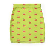 Chartreuse Cherry Mini Skirt