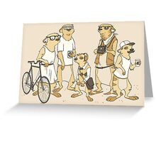 Hipster Meerkats Greeting Card