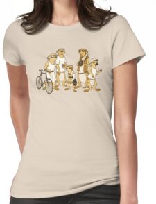 Hipster Meerkats Womens Fitted T-Shirt