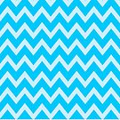 Aqua Chevron Pattern by gretzky
