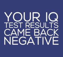 IQ Test Results (for dark apparel) by Irina Chuckowree