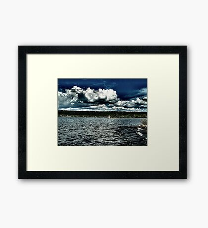 I Love Clouds Over Water Framed Print