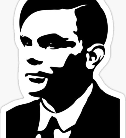 Black and White Turing Sticker