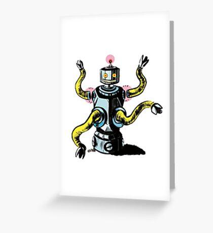 Really Rad Retro Robot Greeting Card