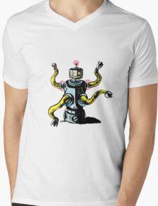 Really Rad Retro Robot Mens V-Neck T-Shirt