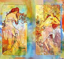 DEDICATION ~ MUCHA ~ SPRING, SUMMER, FALL, WINTER by Tammera