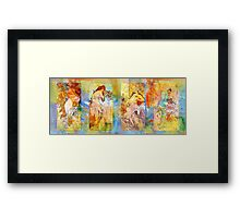 DEDICATION ~ MUCHA ~ SPRING, SUMMER, FALL, WINTER Framed Print